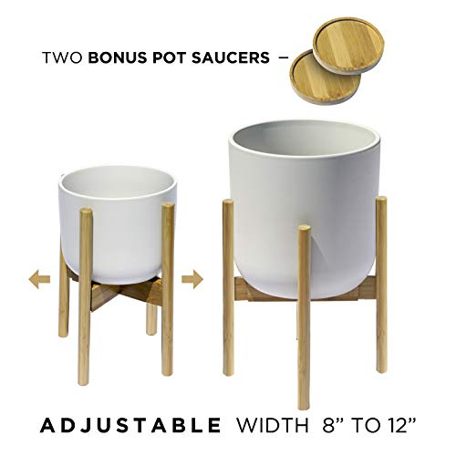 Premium Adjustable Plant Stand with Sliding Legs to Fit Pots from 8