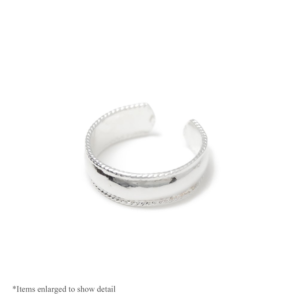 Silver Plated Adjustable Toe Ring - Classic Design BodyJewelryOnline TS01-Bulk