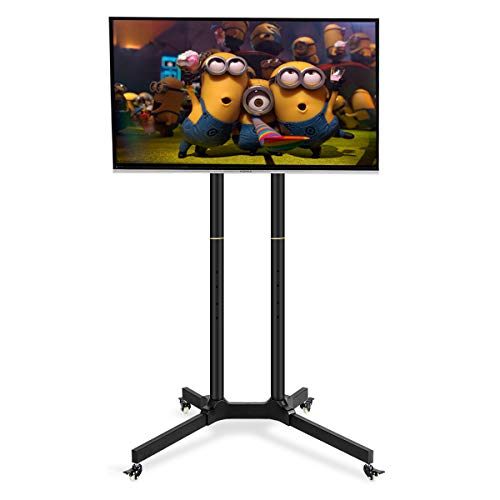 Toolsempire Height Adjustable Mobile TV Cart Rolling TV Stand for 30'' to 65'' Universal LCD LED Plasma Flat Panel Screens Within 600x400mm up to 132lbs with Wheels by Toolsempire (Image #6)