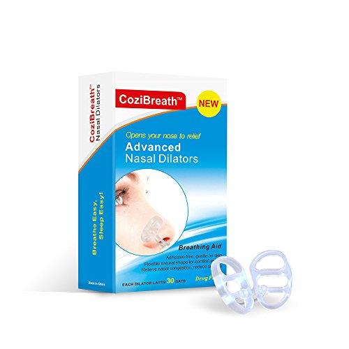 CoziBreath Snoring Solution Snore Stopper Nasal Dilators Anti Snoring Devices (S) by CoziBreath