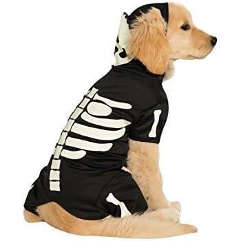 Rubie's Pet Costume, X-Large, Glow in The Dark Skeleton Hoodie