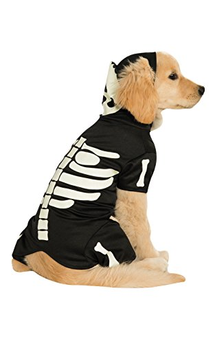 Rubie's Pet Costume, Medium, Glow in The Dark Skeleton Hoodie