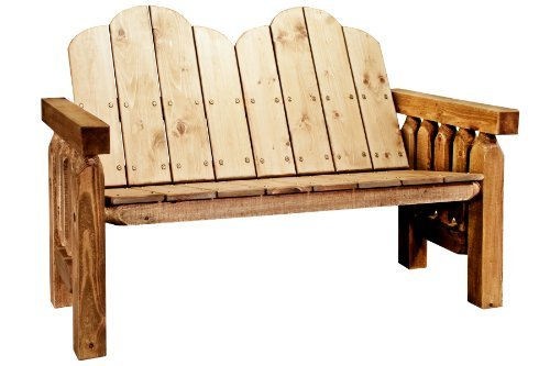 Cheap Montana Woodworks Homestead Collection Deck Bench, Exterior Stain Finish