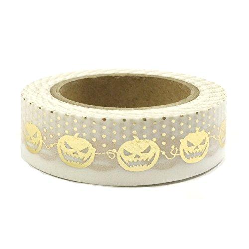 (Allydrew Decorative Washi Masking Tape, Wicked Pumpkins Gold)