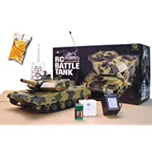 RC Battle Tank Leopard Tank Shoots BB's Radio Remote Control 1:24