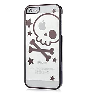 JOE Lovely Skull with Star Pattern Plastic Hard Case for iPhone 5/5S (Assorted Colors) , Rose