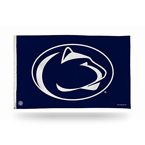 NCAA Penn State Nittany Lions 3-foot x 5-foot Banner Flag,3-Foot by 5-Foot,Navy (Nittany Wall State Penn Banner Lions)