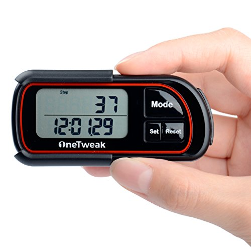 Pedometer for Walking! Back to Basics Clip on Step Counter w/lanyard! Perfect Fitness/Exercise Tool. 30 Day Memory!