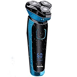 Electric Shaver for Men Wet and Dry Waterproof, Electric Razor Cordless Men's 3D Rotary Shavers Rechargeable Beard Trimmer with Pop-up Trimmer, Digital Display & Travel Lock - 41NGxxSPO7L - Electric Shaver for Men Wet and Dry Waterproof, Electric Razor Cordless Men's 3D Rotary Shavers Rechargeable Beard Trimmer with Pop-up Trimmer, Digital Display & Travel Lock