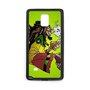 Bob Marley Caricature 12620 Funda Samsung Galaxy Note 4 Funda caja del teléfono celular Negro R7M7FF Phone Case Customized DIY
