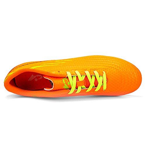 DoGeek Fußballschuhe Kinder Microfaser Cleats Beruf Fußballschuhe für Herren Orange
