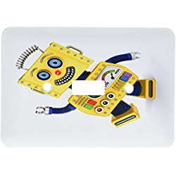 3dRose lsp_172017_1 Yellow Toy Robot Goofing Around Light Switch Cover
