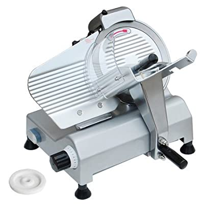 """Zeny? Commercial 240W Electric Meat Slicer 10"""" with Non-sticky Teflon Blade, Frozen Meat/ Cheese/ Food Slicer Commercial and Home Use"""
