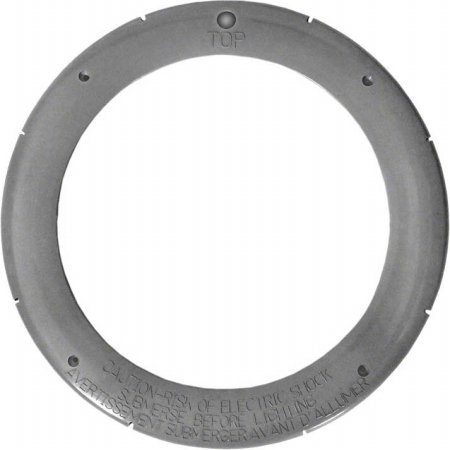 Pentair 79212165 Gray Large Plastic Snap-on Face Ring Replacement Pool and Spa Light