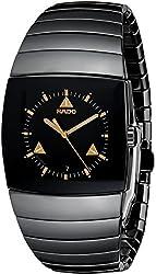 Rado Men's R13723172 Sintra XXL Analog Display Swiss Quartz Black Watch