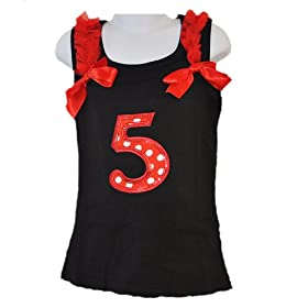 - 41NGyjgV1FL - Red/White Polka Dots Costumes for Birthday Party-Tutu w/Tank Top & Headband