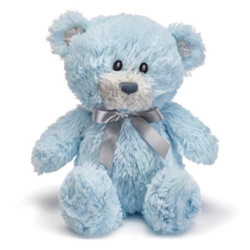 DEMDACO Blue Austen Bear with Satin Bow Tie 10 Inch Children's Plush Stuffed Animal Toy ()