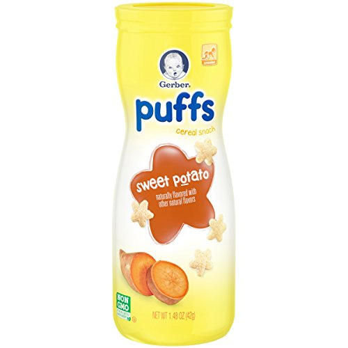 Gerber Graduates Puffs Sweet Potato, 1.48 (Potato Puffs)