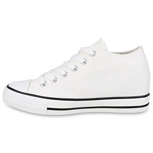 Stiefelparadies - Zapatillas Mujer , color Blanco, talla 40 UE