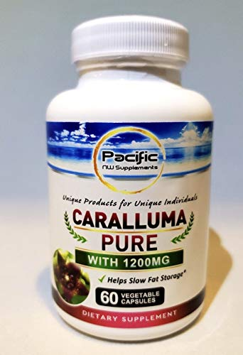 100% Pure Caralluma Fimbriata 1200mg - 60 Capsules, Natural Extract Weight Loss Diet Pill Supplements, Best biox4 Appetite Suppressant & Energy Booster, Max Strength Slim Lean Fat Burn! (Slim Vox Weight Loss Pills)
