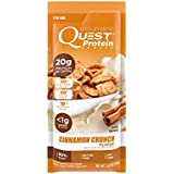 Quest Nutrition Protein Powder, Cinnamon Crunch, 20g Protein, 80% P/Cals, 1g Sugar, 1g Net Carbs, Low Carb, Gluten Free, Soy Free, 1.13oz Packet, 12 Count, Packaging May Vary