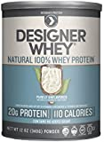Designer Protein 100% Premium Natural Whey Protein Powder with Acti-Blend, Purely Unflavored, 12 Ounce