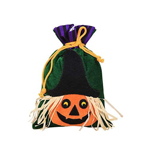Creazy Candy Bag, Halloween Cute Witches Candy Bag Packaging Children Party Storage Bag Gift -