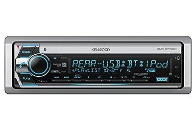 Kenwood KMRD772BT Single DIN Marine Audio USB AUX CD Bluetooth SiriusXM Ready Stereo Receiver