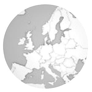 alfombrilla de ratón Mapa de Europa con las fronteras 3D en gris / blanco - ronda - 20cm
