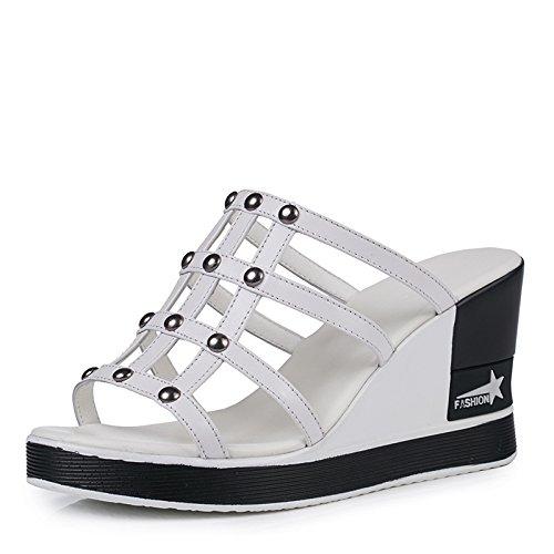 9 Pies Dedos Altos De Los Tacones nine Zapatos Cm De GTVERNH Joker Fondo Pendiente Mujer Zapatillas Grueso Thirty Sandalias Tacones De AUxAXqBZ
