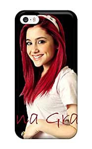 Iphone 5/5s Hard Back With Bumper Silicone Gel Tpu Case Cover Ariana Grande