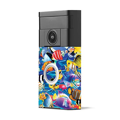 MightySkins Skin for Ring Video Doorbell - Tropical Fish | Protective, Durable, and Unique Vinyl Decal wrap Cover | Easy to Apply, Remove, and Change Styles | Made in The USA