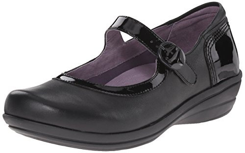Dansko Women's Misty Mary Jane Flat, Black, 39 EU/8.5-9 M US