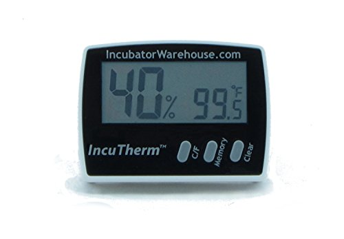IncuThermTM Digital Thermometer Hygrometer with Min/Max Memory