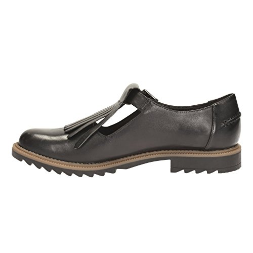 Clarks Griffin Mia Black Leather