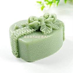 GreatMold Valentine Heart Shaped Rose Flower Soap