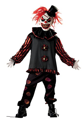Carver The Clown Costume (Mario Chiodo Boy's Carver The Clown Outfit Horror Theme Child Halloween Fancy Costume, Child L (12-14))
