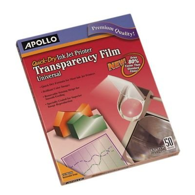 Apollo Quick Dry Universal Inkjet Transparency Film (CG7033S) by ACCO Brands