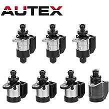AUTEX 7PCS 28OHM RE5R05A A5SR1/2 Automatic Transmission Shift Solenoids Kit 2002 Up