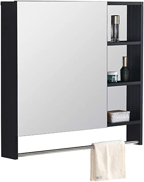 Color : Beige, Size : 400mm Bathroom Mirror Cabinet Space Aluminum Cabinet Wall-Mounted Bathroom Wall-Mounted Bathroom with Shelf Toilet Toilet Modern Minimalist