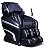 Osaki OS-6000A Deluxe ZERO GRAVITY Massage Chair, Black/Black, Synthetic Leather, Designed with a set of S-track movable intelligent massage robot , special focus on the neck, shoulder and lumbar massage according to body curve, Automatically detect the whole body curve as well as make micro adjustments, Thai style body stretching massage function, MP3 player with music sync, LCD displayer with wireless mini controller, Designed with six unique auto-programs: Healthcare, Relax, Therapy, Smart, Circulation and Demo, Automatic massage for the upper body (shoulder, neck, back and lumbar), the low body (buttock, thigh, calves and feet)