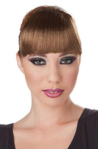 Celebrity Clip-On Bangs Costume Wig (Brunette Celebrity Halloween Costumes)