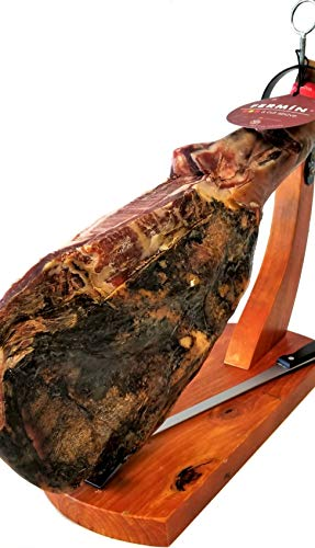 Serrano Ham (shoulder) Bone in from Spain 10-12 lb/FREE HAM HOLDER & Knife: Amazon.com: Grocery & Gourmet Food