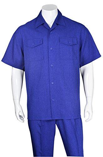 Fortino Landi Two Pockets Walking Suit 2961-RoyalBlue-X-Large-38