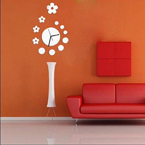 JY$ZB Decoración de la pared de DIY hechizo pared espejo reloj ...
