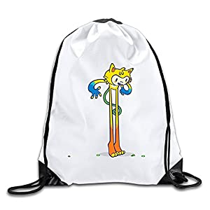 Runy Custom 2016 Olympic Mascot Adjustable String Gym Backpack Travel Bag White