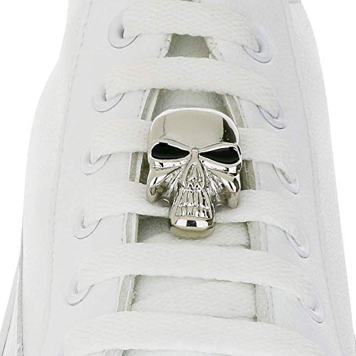 Shoelace Customization - Skull With Black Eyes Shoelace Charm - trainer tag for Nike, Adidas, Converse, Puma, Vans sneakers - Inspirational Gift - Fashion Accessory Gift - shoelace charms for runners