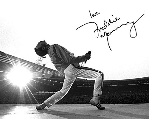Queen Freddie Mercury reprint signed concert photo RP