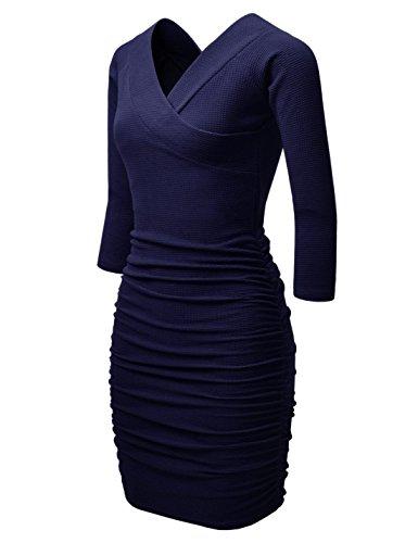 new look navy peplum dress - 3