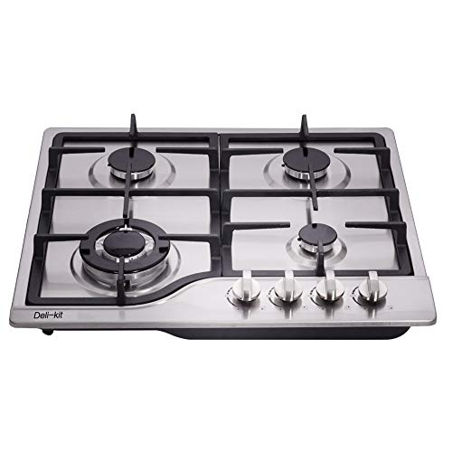 DK245-A02 24 inch LPG/NG gas cooktop gas hob stovetop 4 Burners Dual Fuel 4 Sealed Burners Stainless Steel gas cooktop 4 burners Built-In gas hob 110V AC pulse ignition gas stove